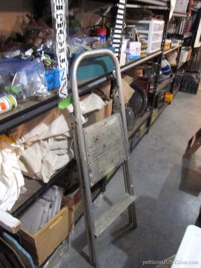 metal step stool
