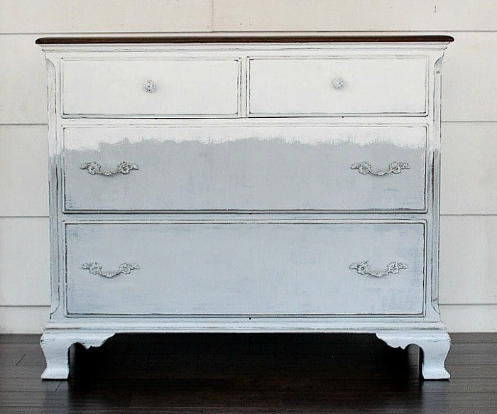 white and gray dresser from Lovely Etc