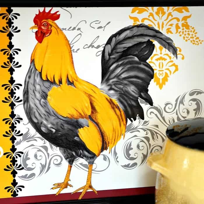 $2 Rooster Wall Decor DIY Dollar Store Crafts