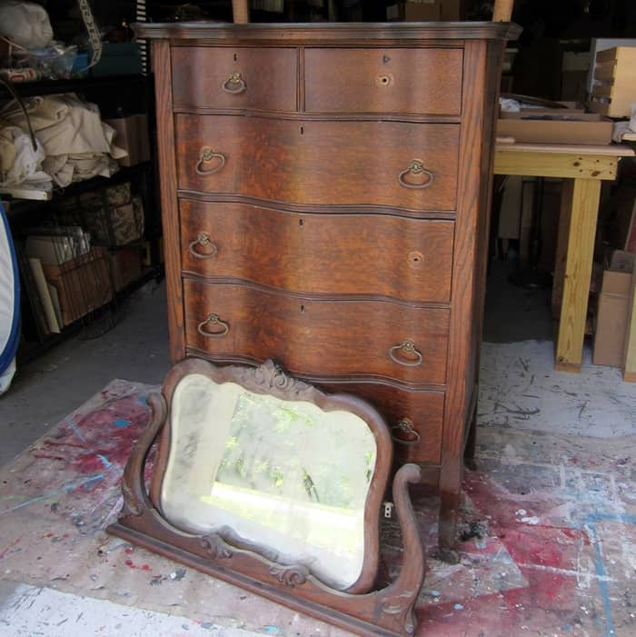 Antique Furniture waiting to be refurbished - Antique Furniture Restored Instead Of Painted-Petticoat Junktion