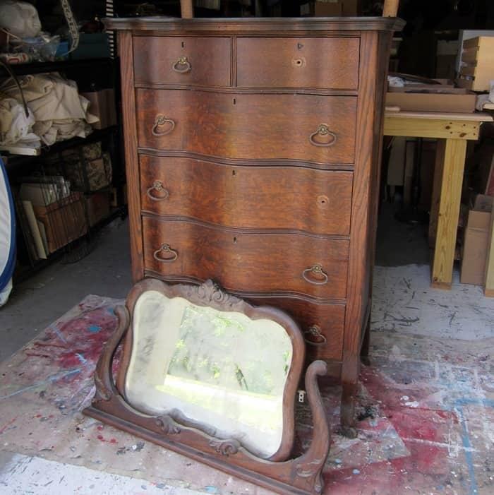 Antique Furniture waiting to be refurbished