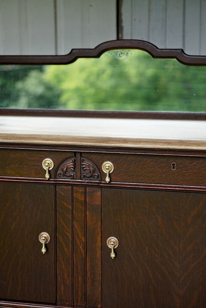 Antiqued Paint Finish Tops The Vintage Buffet