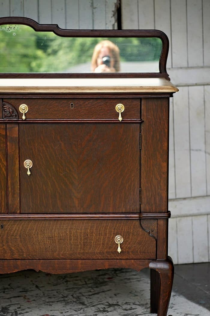 Antiqued Paint Finish Tops Vintage Buffet For The Win