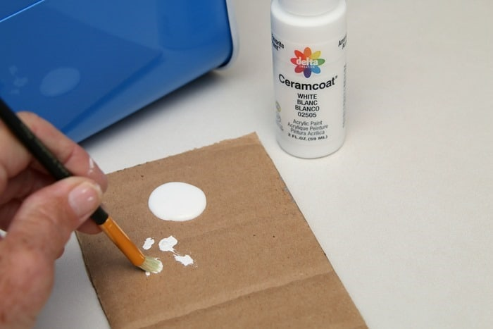 Delta Ceramcoat Acrylic Paint is perfect for stenciling