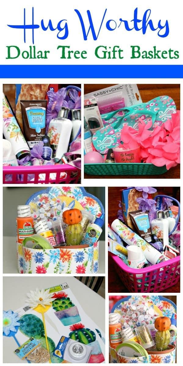 Dollar Tree Gift Baskets make everyone happy