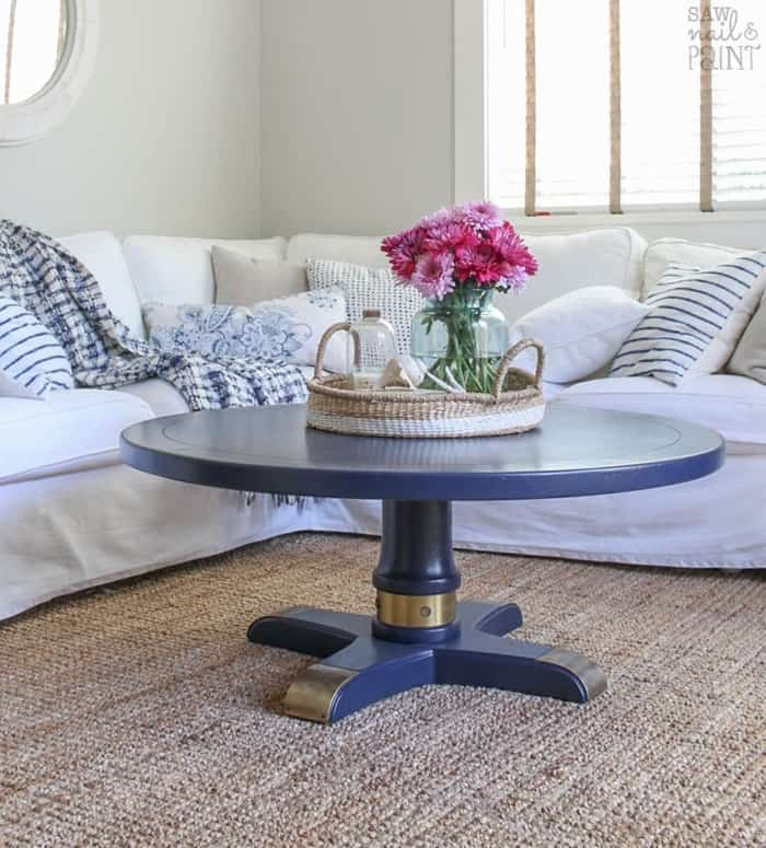 Saw Nail & Paint Table Makeover