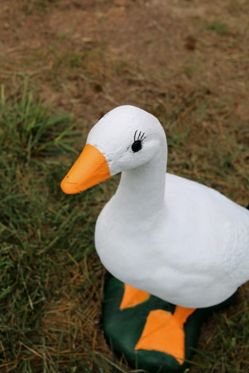 The Concrete Goose Statue I Repainted For My Neighbor ...