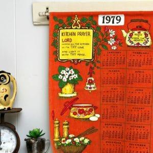 Vintage Tea Towel Calendar