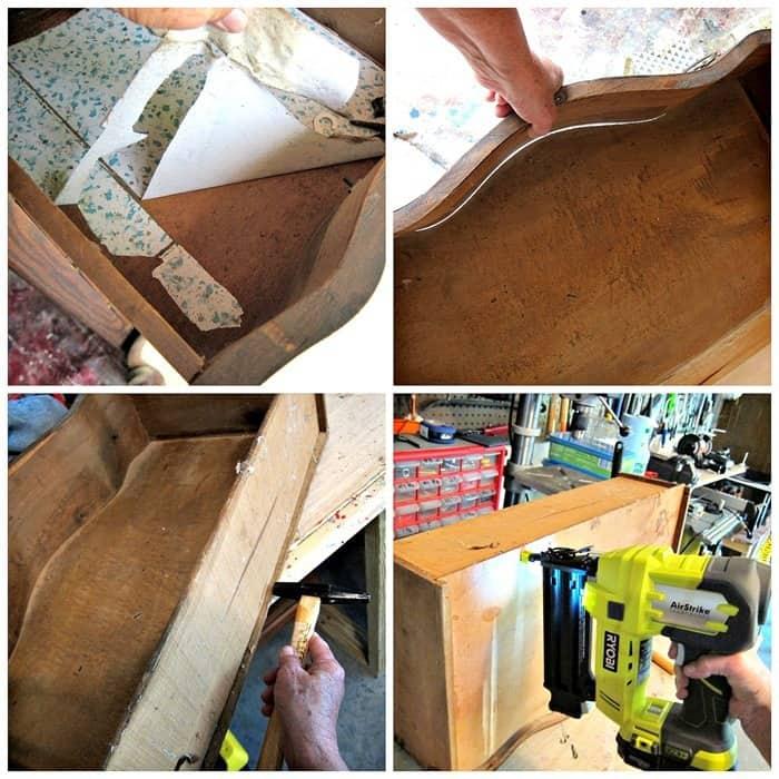 making drawer repairs to antique furniture
