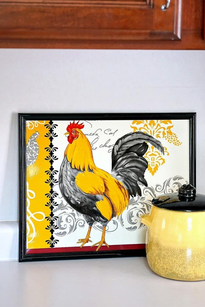 repurpose a rooster placemat