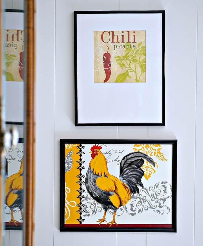 rooster wall decor diy project using Dollar Tree items