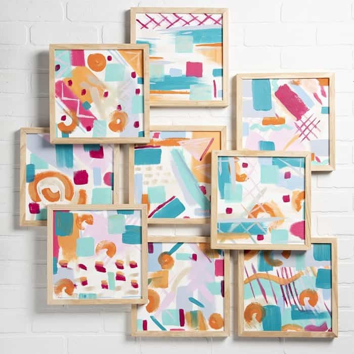 Abstract canvases by the Plaid Creators