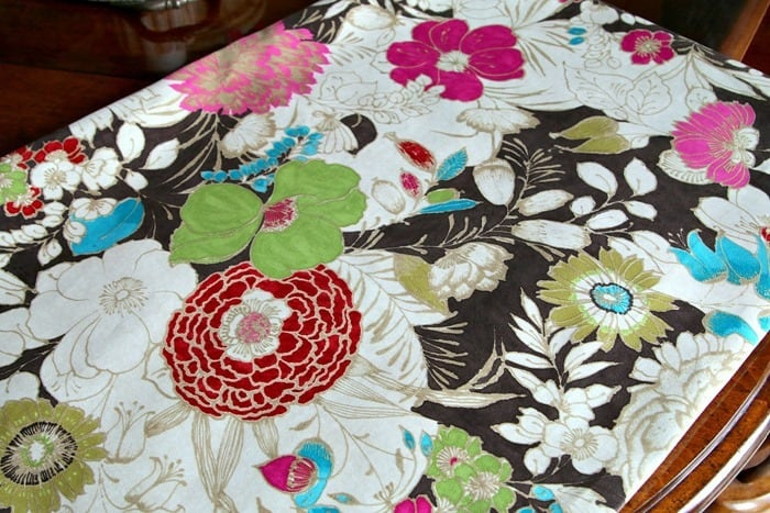 Cisco Teak Floral Fabric Microsuede