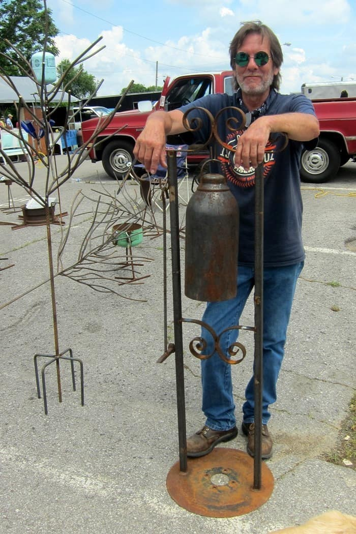 Jimbo Bradley of Bradley Metal Works is a vendor at the Nashville Flea Market, photo by Petticoat Junktion