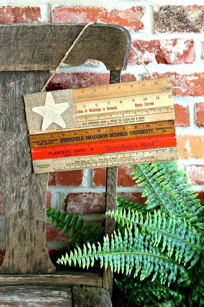Make A Recycled Ruler Flag
