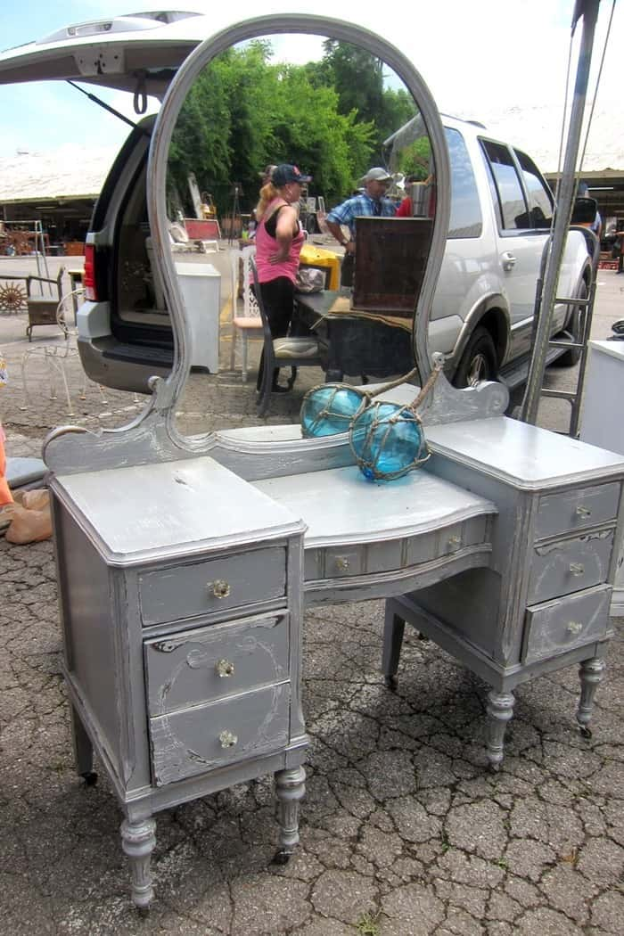 Pretty furniture by Debbie of Crabtree Corner at the Nashville Flea Market photo by Petticoat Junktion