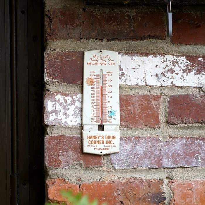 Vintage Advertising Thermometer found at the Nashville Flea Market by Petticoat Junktion