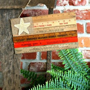 Make a Wooden Ruler Flag Without Using Power Tools