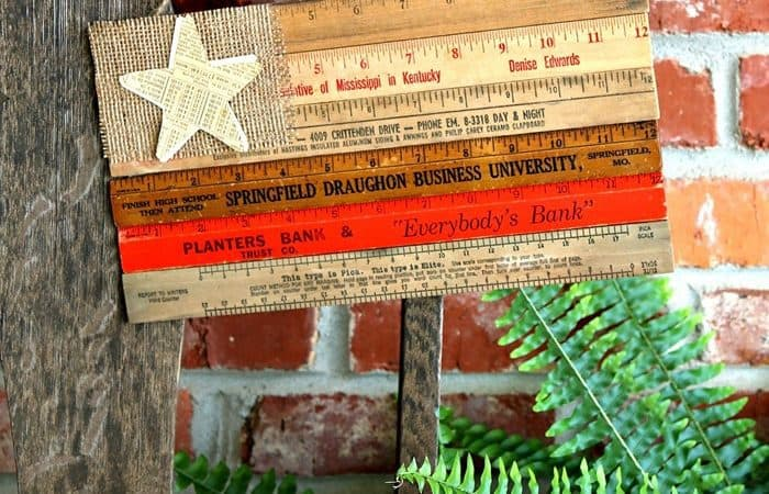 wooden ruler flag