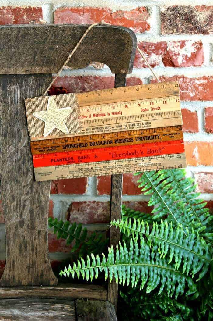 Wooden Ruler Flag diy idea