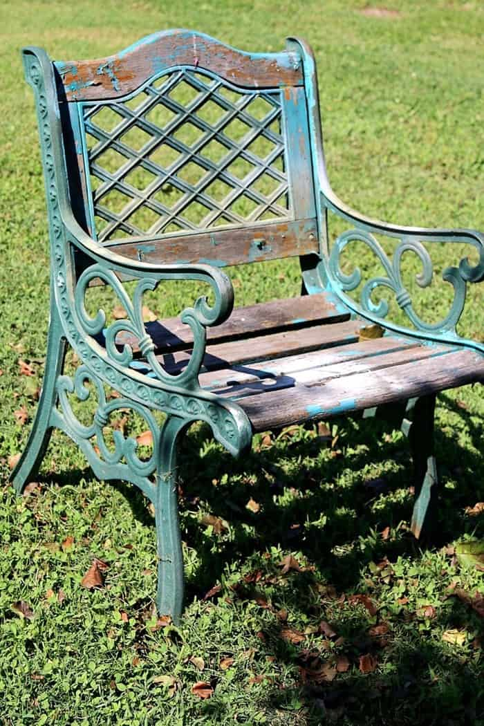 chippy paint outdoor chair