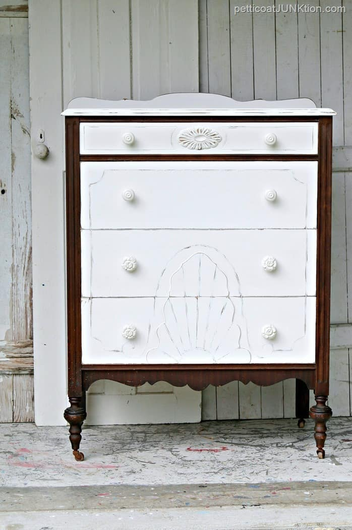 Eye Catching Painted Drawers Plus Original Finish
