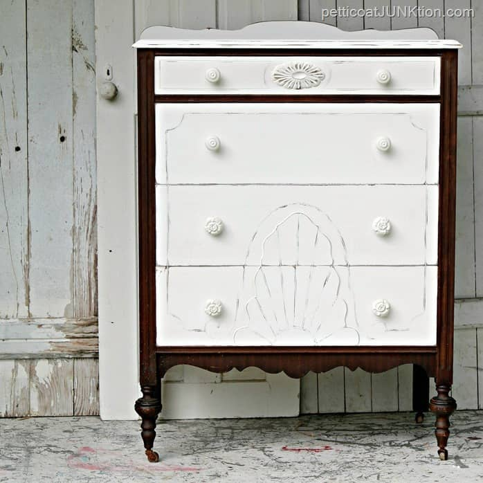 Eye Popping Painted Drawers Plus Nice Looking Legs Vintage Furniture Makeover