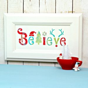 Believe wall sign decor