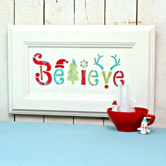 Magical Believe Wall Sign Decor Christmas In July