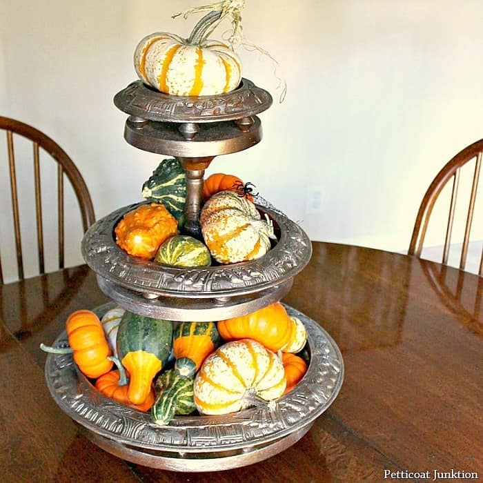 Far-Out Fall Decorating Ideas Featuring a Pumpkin Carousel Centerpiece