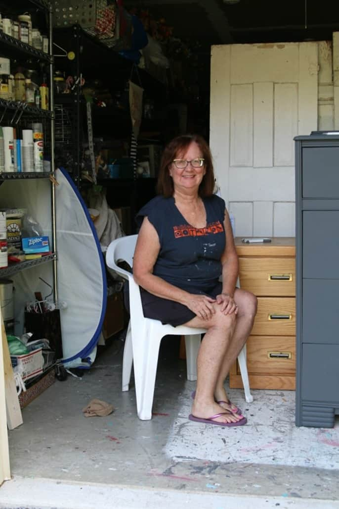 Kathy Owen Petticoat Junktion blogger stylin' in her work clothes and a challenge for readers