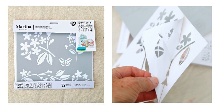 Martha Stewart Adhesive Paper Stencils Flowers And Bees
