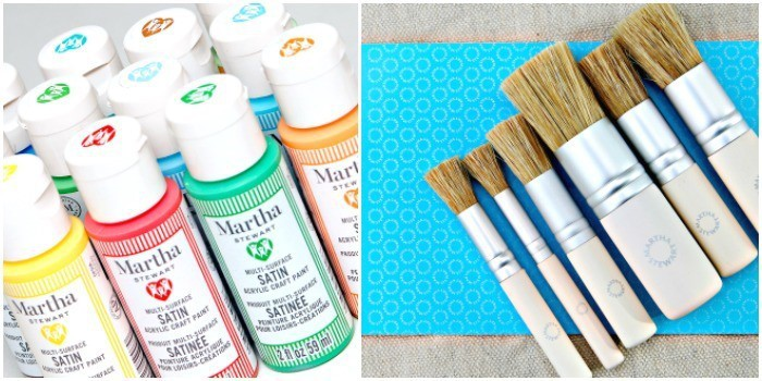 Martha Stewart Multi-Surface Acrylic Paint and Stencil Brushes