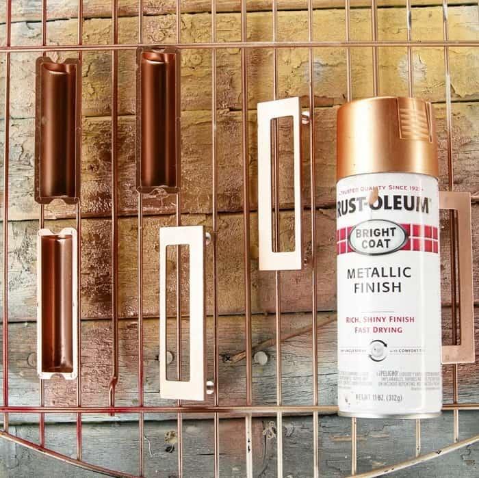 Rustoleum Metallic Spray Paint Copper Color for harware