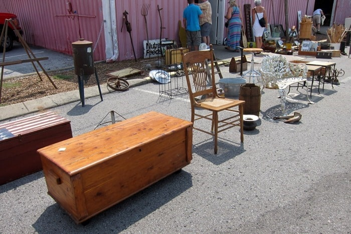furniture and tools at the Nashville Flea Market