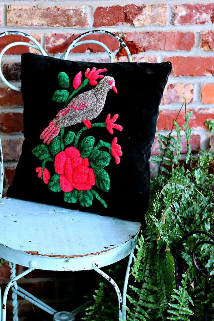 hand stitched pillow cover