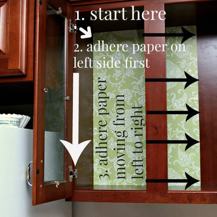 how to line cabinet walls with shelf or drawer liner adhesive paper