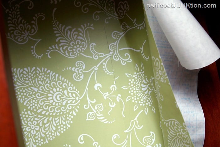 lining up designs when using adhesive drawer liner