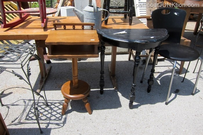multiple small wood tables