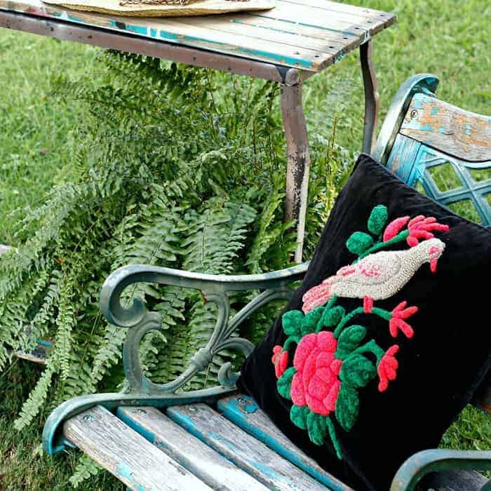 How to make an outdoor plant table using reclaimed wood.