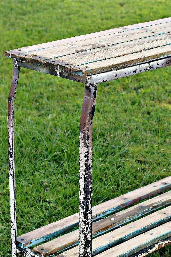 Make An Outdoor Plant Table Using Reclaimed Wood