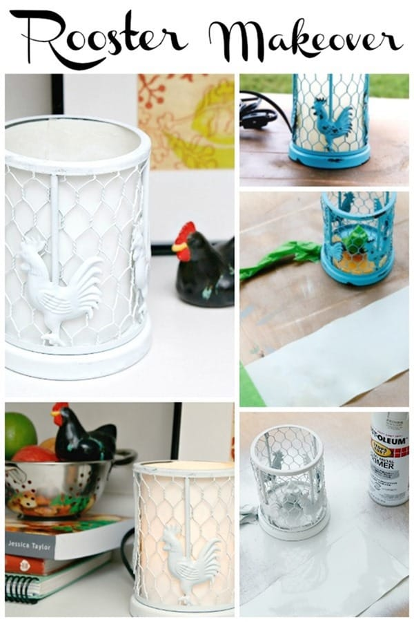 Rooster Spray Paint Makeover