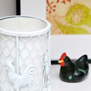 Rooster Lamp Spray Paint Makeover