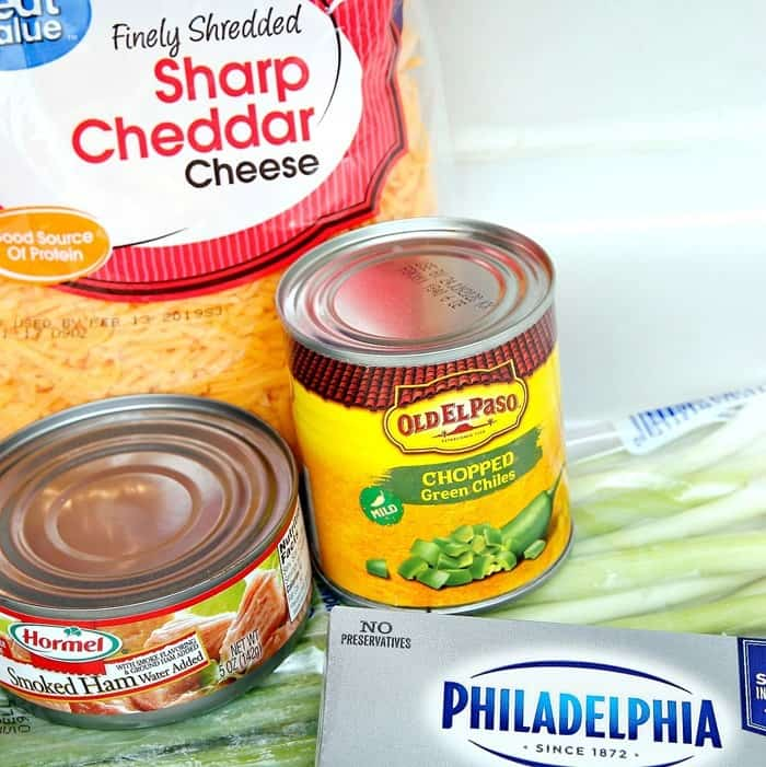 ingredients to make the cheese dip