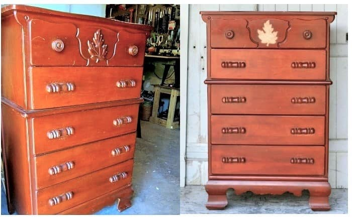 furniture before paint makeover
