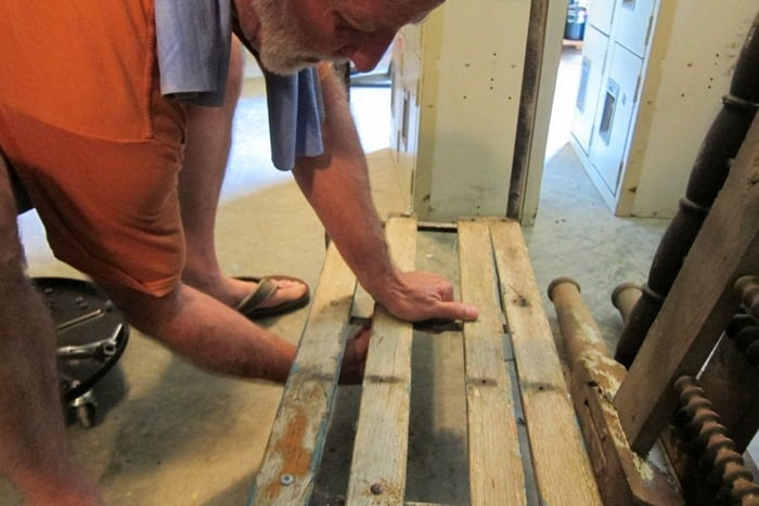 making a reclaimed wood table