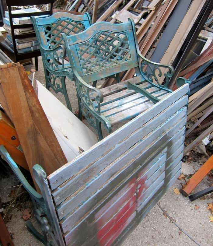 outdoor furniture found at my favorite junk shop