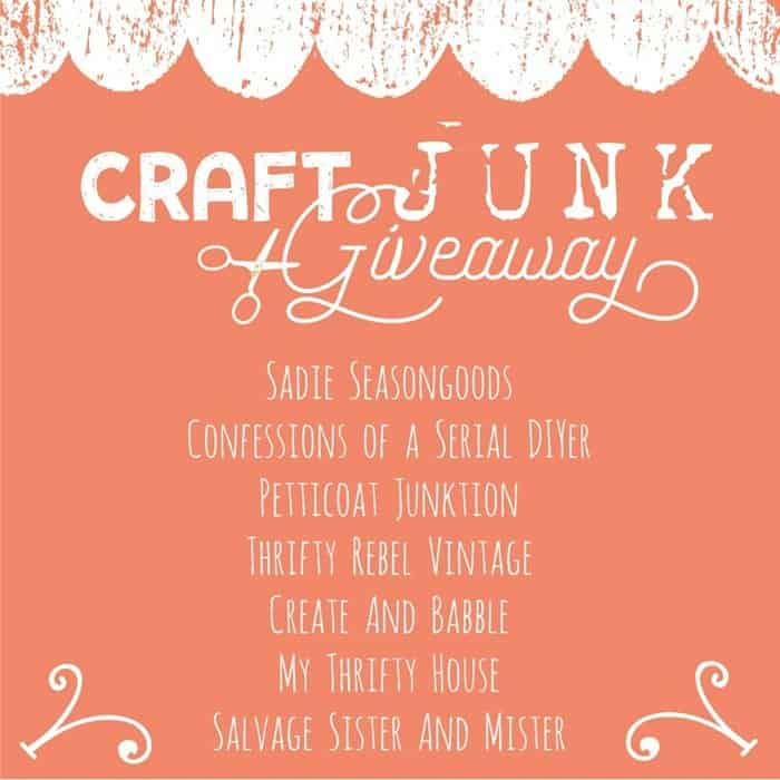 Craft Junk Giveaway with vintage treasures for upcycling and craft supplies by Sadie Seasongoods