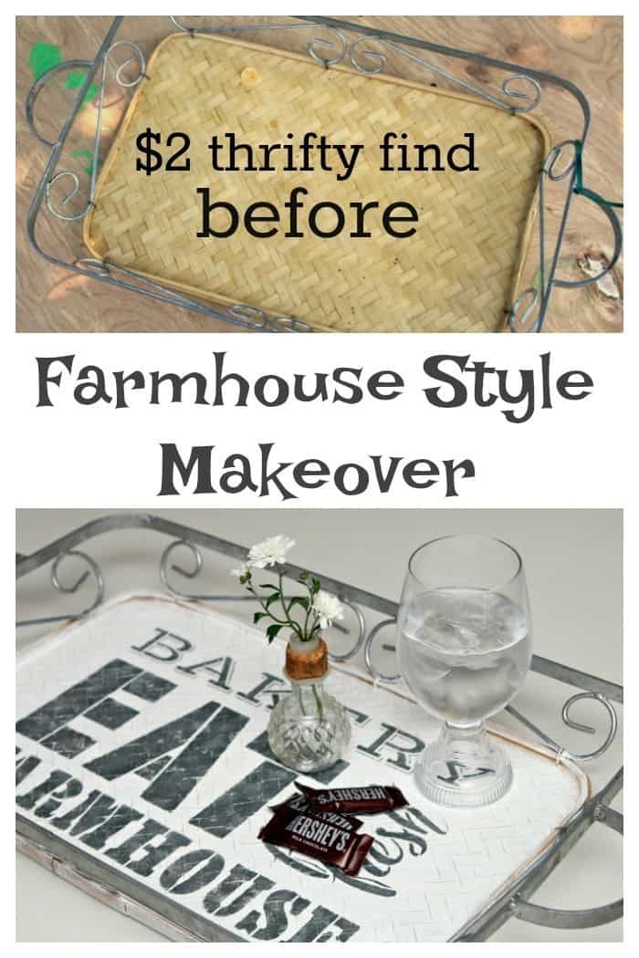 Farmhouse Style Serving Tray