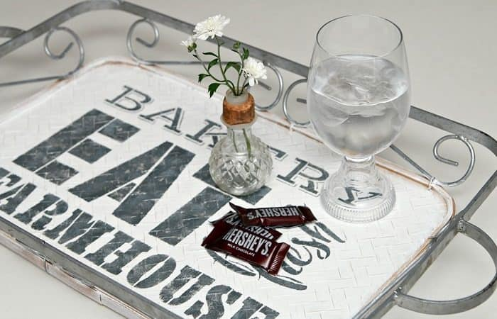 Farmhouse style DIY serving tray